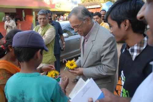 with Narayana Murthy